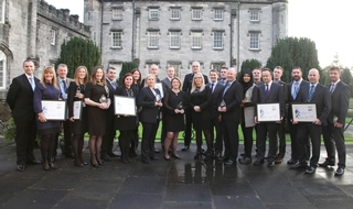 The award winners with those who presented them with the gongs at Tulliallan Castle