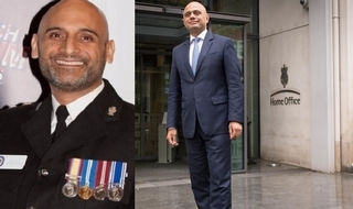 On the move: Commander Bas Javid, left, and his PM-seeking brother Sajid