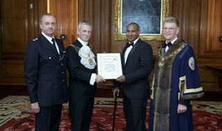 Officer who fought London Bridge terrorists receives award