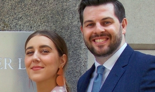 Over the moon: Campaigner Gina Martin with lawyer Ryan Whelan