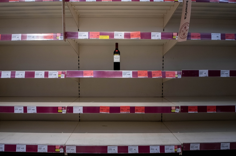 Supermarkets have been hit by panic buying