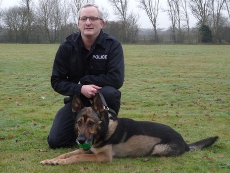 PC Dave Wardell with PD Finn