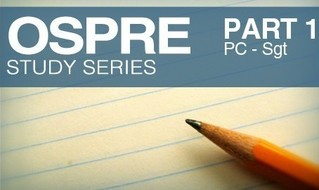 OSPRE: PC to Sgt study guide unveiled