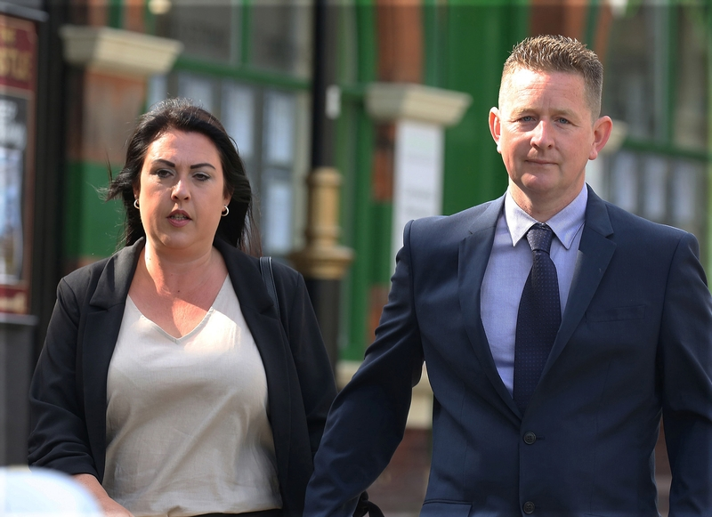 Victoria and Richard Baldwin arriving at court (Picture: South Beds News Agency)