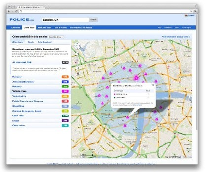 Crime Mapping Upgraded On First Anniversary