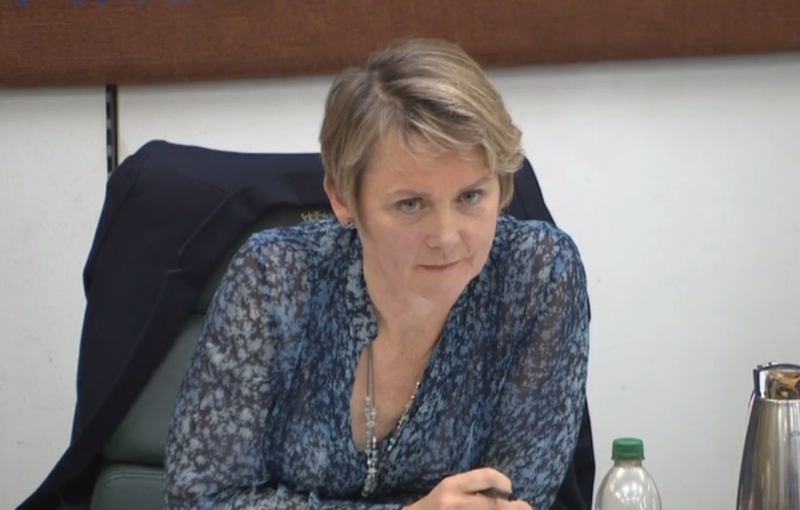 Shocked: Home Affairs Select Committee chair Yvette Cooper