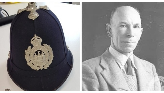 Historic headgear: The helmet worn by PC Ernest Tipler