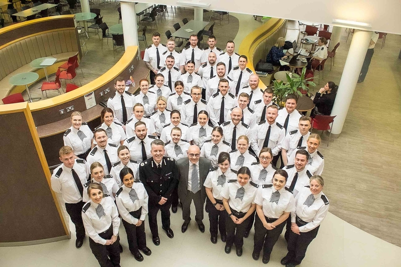 New student officers, recruited via a partnership with Staffordshire University