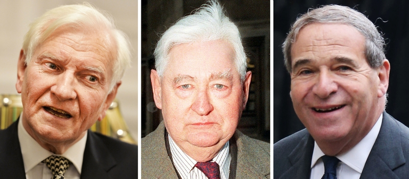 Falsely accused: Harvey Proctor, Lord Brittan and Field Marshal Lord Bramall