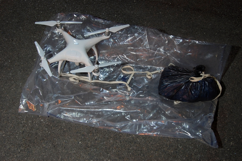 A drone seized inside a prison which was being used to smuggle in drugs and mobile phones