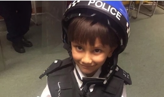 Officers make five-year-old's wish come true