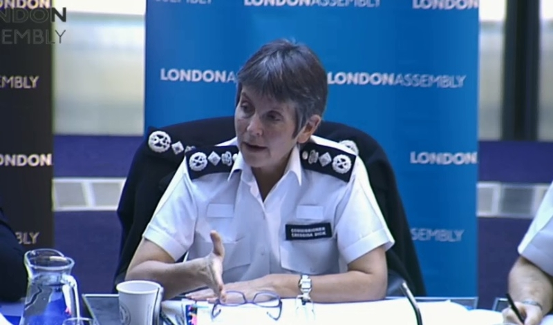 Commissioner Cressida Dick speaking today to London Assembly's Police and Crime Committee
