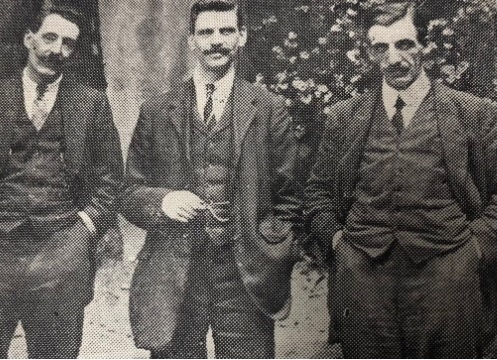 (Left to right) PC J Crisp, PC T Thiel and Mr T Scott featured in Police Review, September 1918