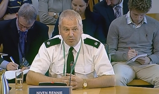 Niven Rennie regularly appeared in front of the Scottish Parliament's Policing and Justice Committee while at the association