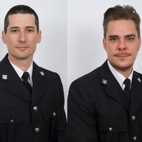 Robert Monk, left, and Gary Liddle have been nominated for a Police Bravery Award
