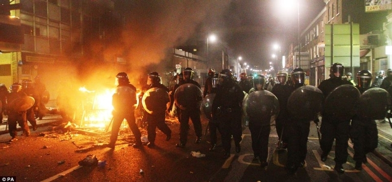 Knock-on effect: Shooting of Mark Duggan led to riots across English cities