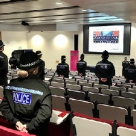 Force recruits stage sit-in at campus