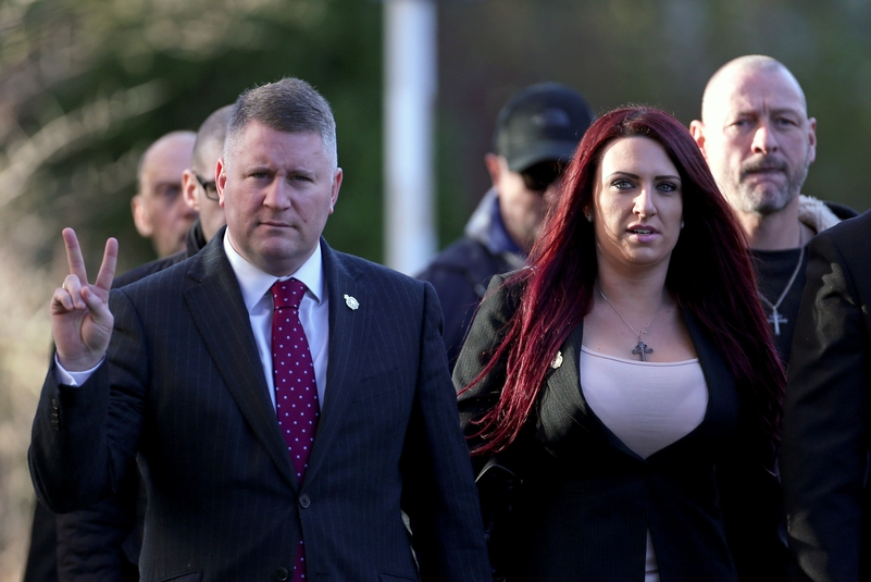 Leaders of far-right group Britain First jailed for religiously aggravated harassment