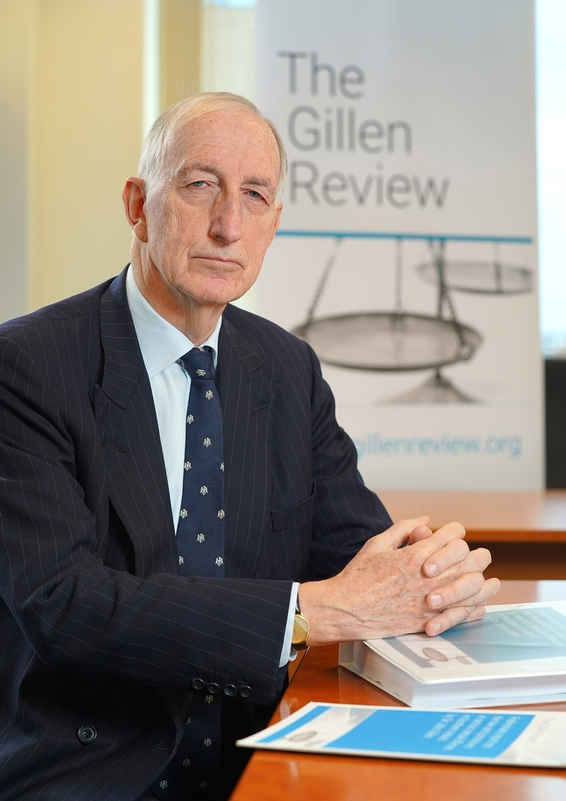 Exhaustive preliminary: 450-page Gillen Review from the retired Lord Justice of Appeal