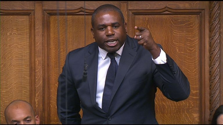 Making a point: Campaigning MP David Lammy