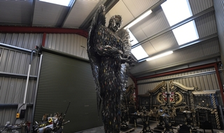 Knife angel sculpture takes shape as 40 forces donate amnesty hauls