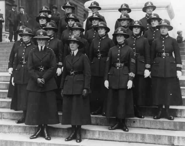 All present and correct: Captured for posterity the Met officers from 1919