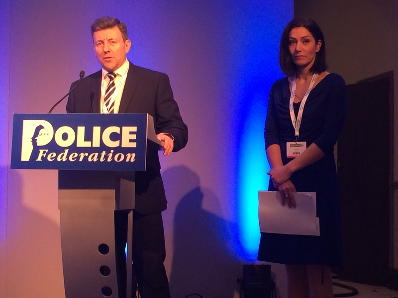 Inspector Steve Davies and Teresa Healy