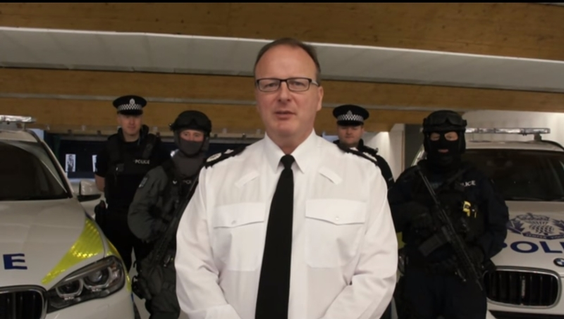 DCC Johnny Gwynne fronted a video on Police Scotland's approach to countering terrorism earlier this year