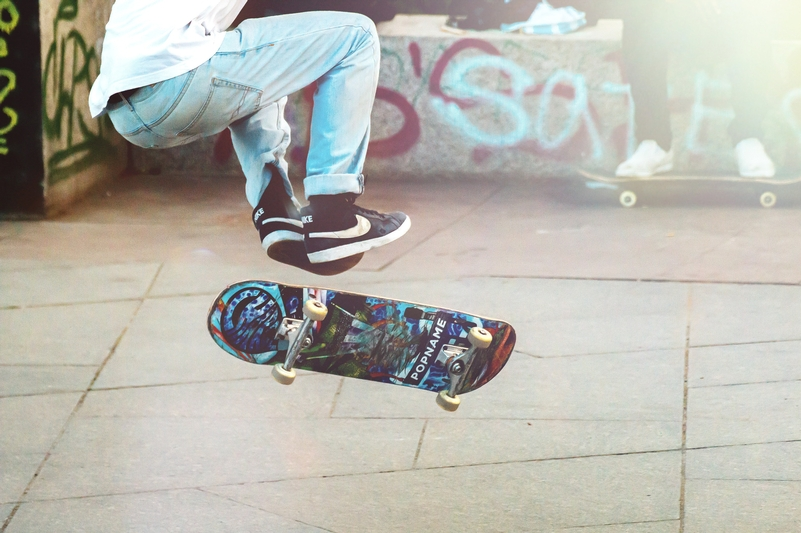 Pizza the action please: Good swap . . . for for learning skateboarding skills