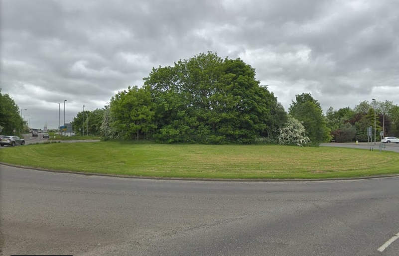 Mark of respect: The roundabout in Wakefield where plans to create the memorial are being discussed