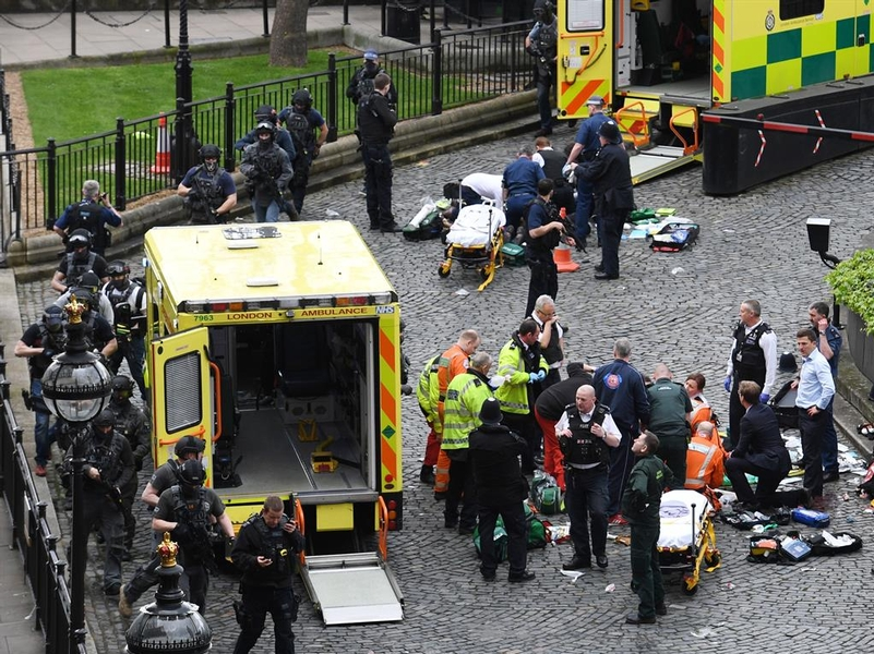 Scene of devastation: Aftermath of the Palace of Westminster attack on PC Keith Palmer