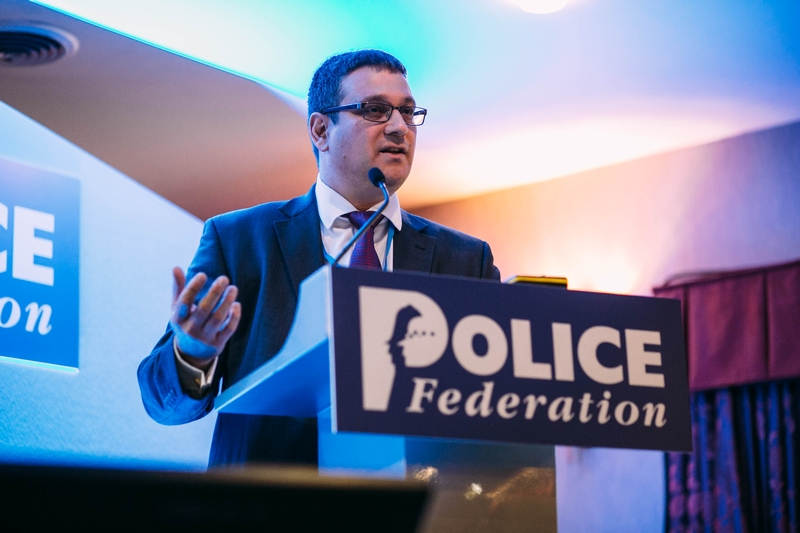 Det Chief Supt Stephen Clayman explaining the recruitment drive at a Police Federation event last year