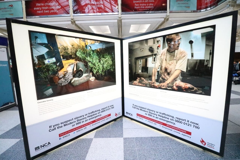 NCA modern slavery exhibition 'Invisible People' tours UK