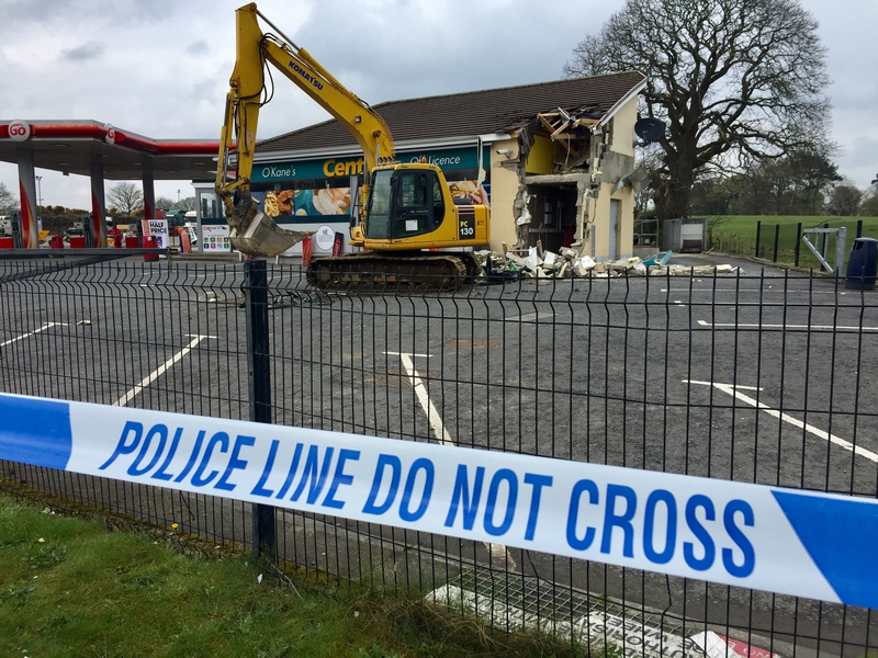 Hole in the wall: Raid on ATM at Dungiven in County Londonderry
