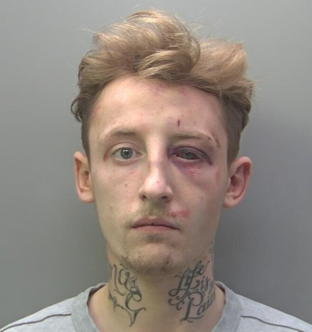 Kieran Graham will serve a two-year sentence for attacking police officers last December
