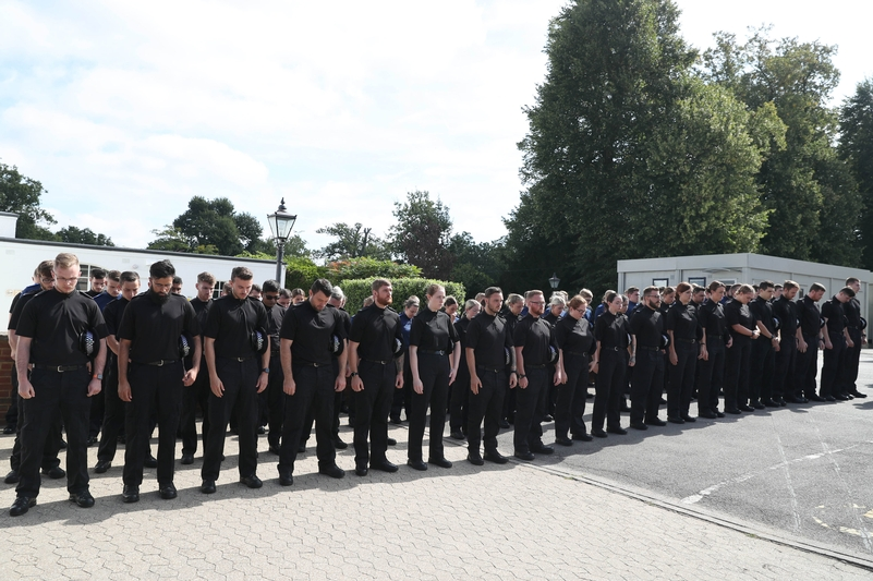 Line of duty: A minute's silence as a mark of respect for fallen colleague, PC Andrew Harper