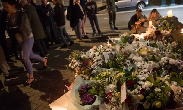 Tributes: Flowers left at the scene of the Coventry tragedy