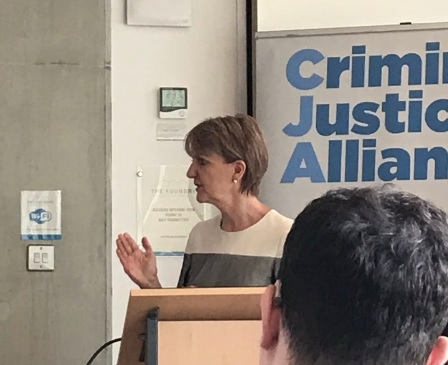 Sue McAllister: In debate at a Criminal Justice Alliance meeting