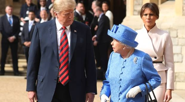 The Queen and I: Donald Trump with HM Queen during his last visit to the UK