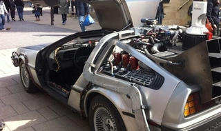 'Hello, hello, think McFly': DeLorean driver stopped by road cops for using phone