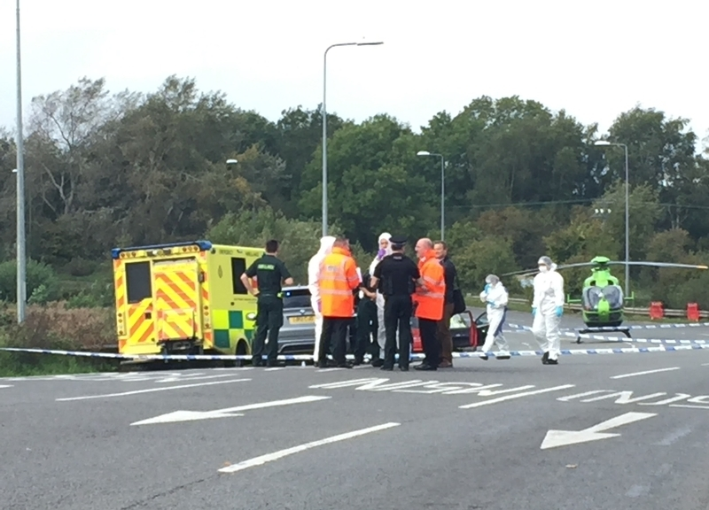 Incident scene: The A369 Portbury Hundred in Avon and Somerset