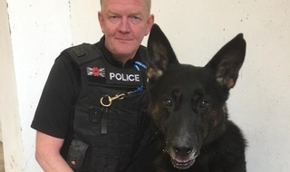 Unveiling of special statue in praise of 'police dogs everywhere'