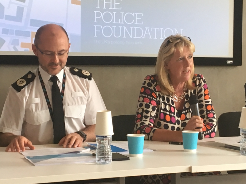 NPCC Neighbourhood Policing Lead Chief Constable Gavin Stephens and HMI Zoe Billingham speaking on The Police Foundation's conference panel