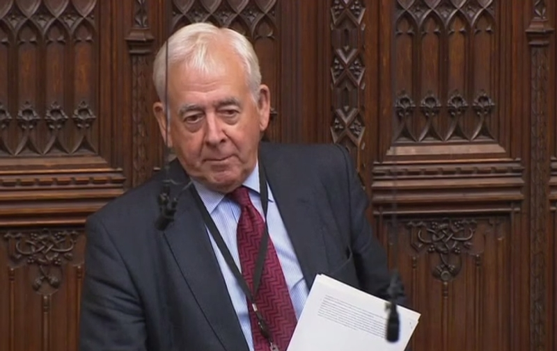 Lord Dafydd Wigley in Parliament last week