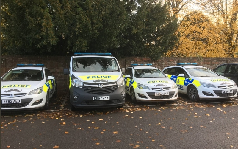 Fleet sporting moustaches to raise awareness of men's health issues