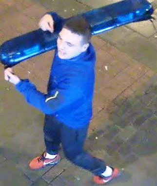 Swagging the blues: CCTV appeal