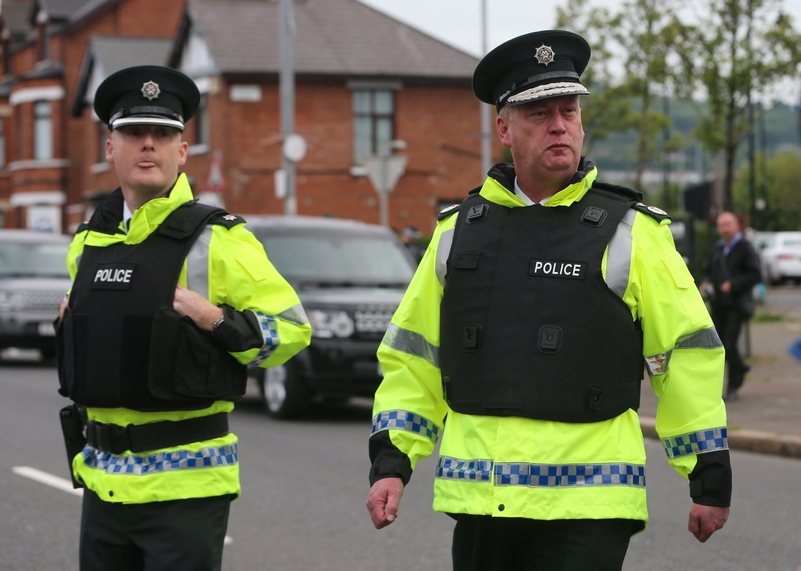 PSNI chief George Hamilton (right). Photo: PA