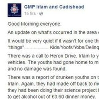 Facebook post about 'stoned youths' by exasperated officer being investigated