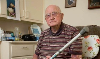 WWII veteran beats would-be burglar with his walking stick