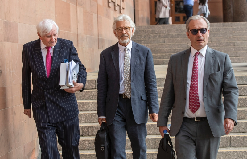 Seeking justice: From left, Harvey Proctor, Sir Edward Heath's godson Lincoln Seligman, and the son of late Labour peer Lord Janner, Daniel Janner Ql